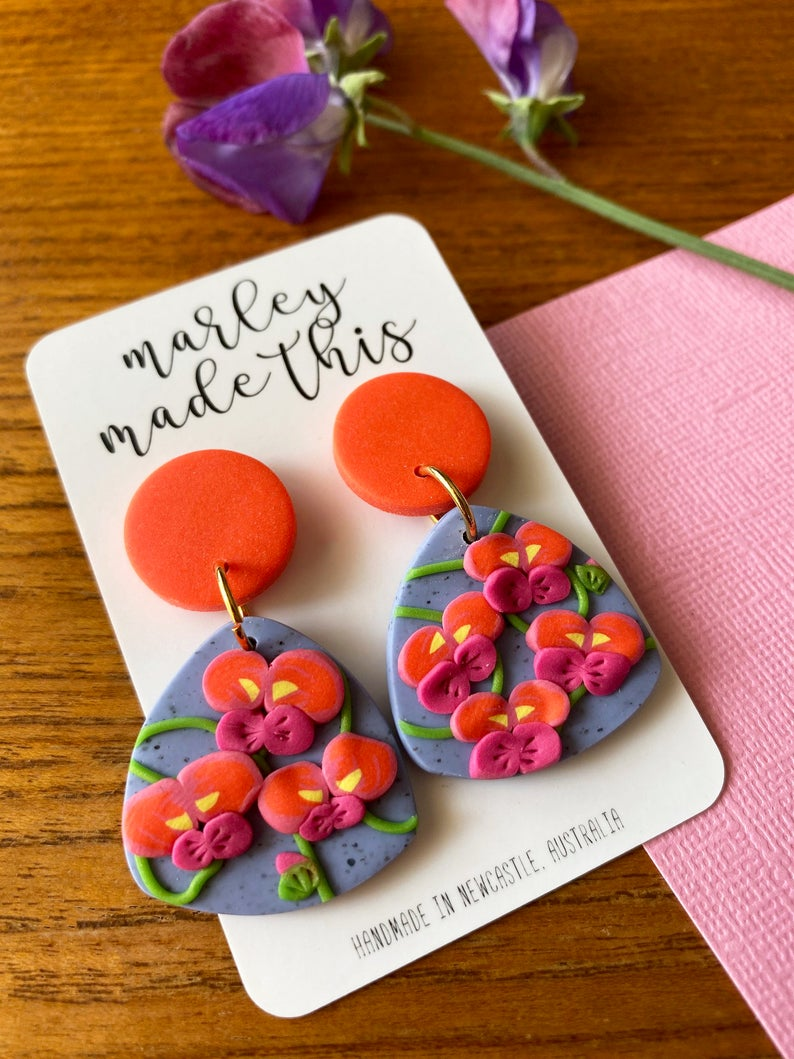 Marley Made This | Flame Pea statement dangles
