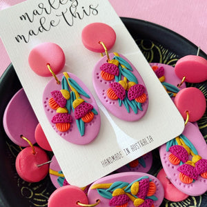 Marley Made This | Hanging Gum Blossoms statement dangles