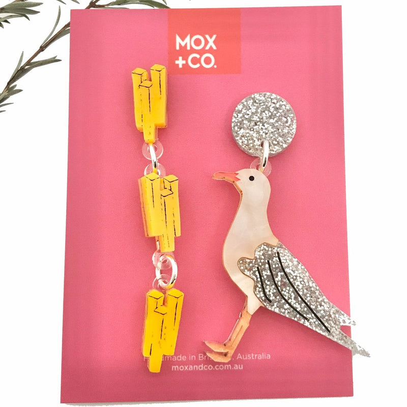 MOX & Co | Seagull & Chips Dangles