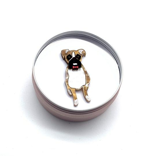 Bobbi Frances | Boston and Bella Boxer Pin