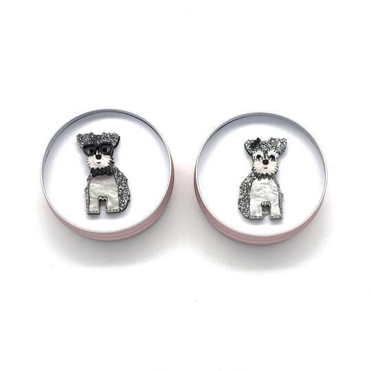 Bobbi Frances | George or Jemima Schnauzer Pin