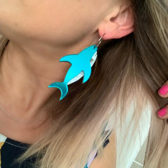 Bobbi Frances | Sebastian the Shark Drops in Teal