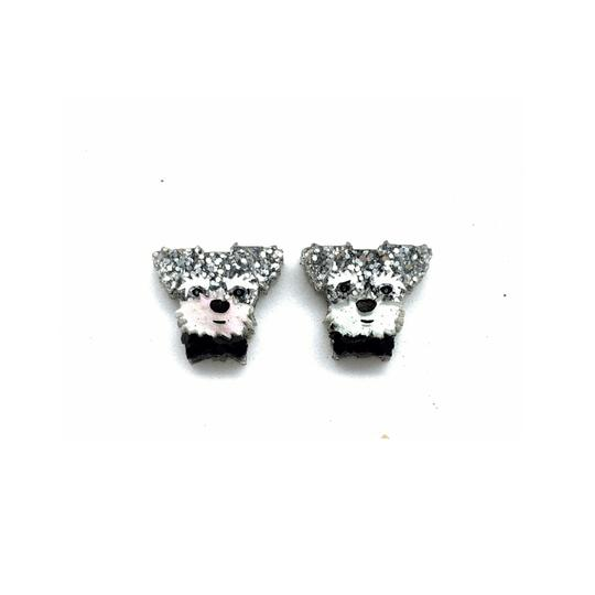 Bobbi Frances | George and Jemima Schnauzer Studs