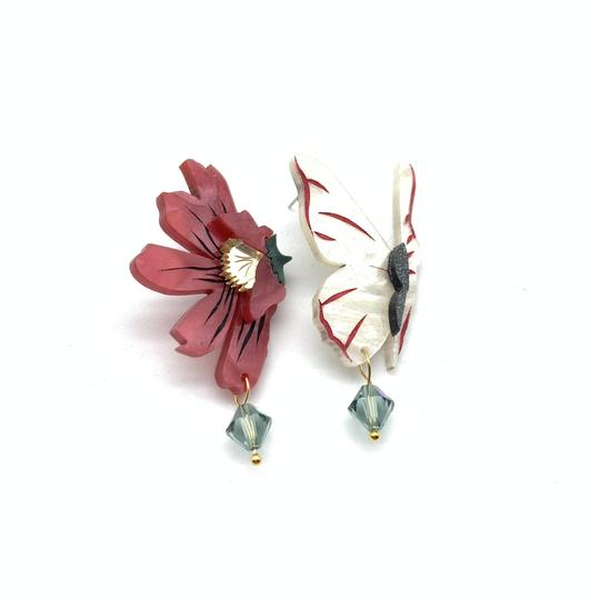 Bobbi Frances | Butterfly and Her Flower Earrings