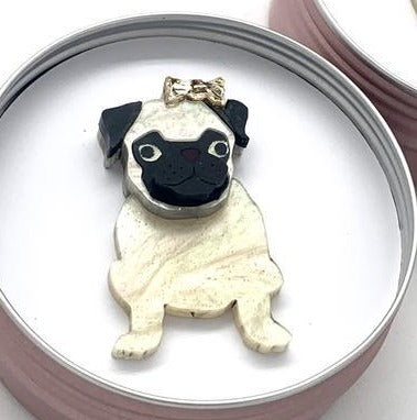 Bobbi Frances Brooch | Gracie Pug