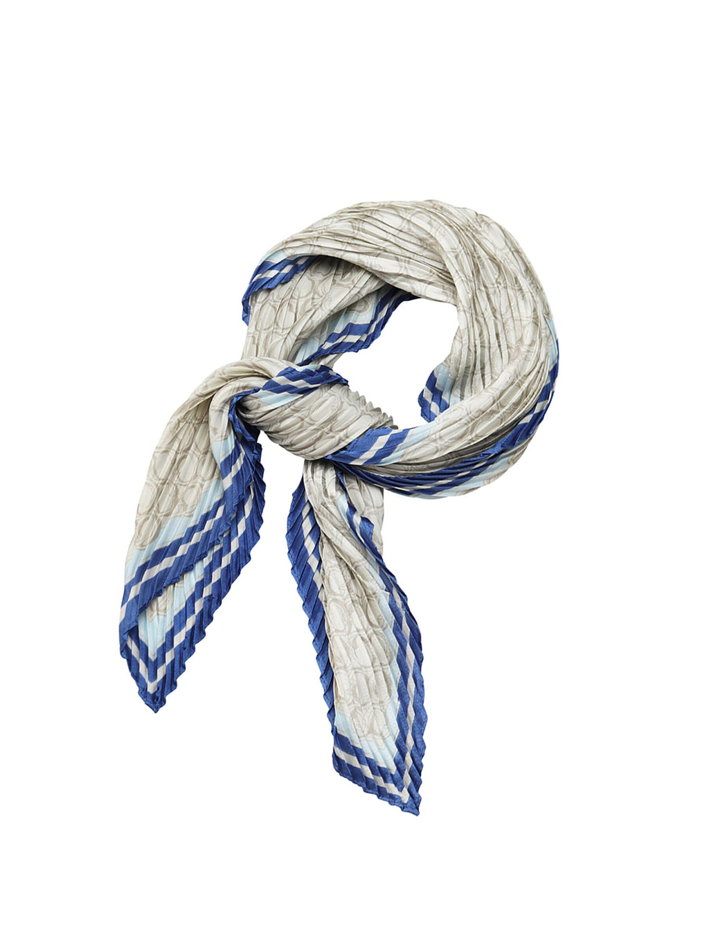 Tiger Tree Grey and Blue Scarf