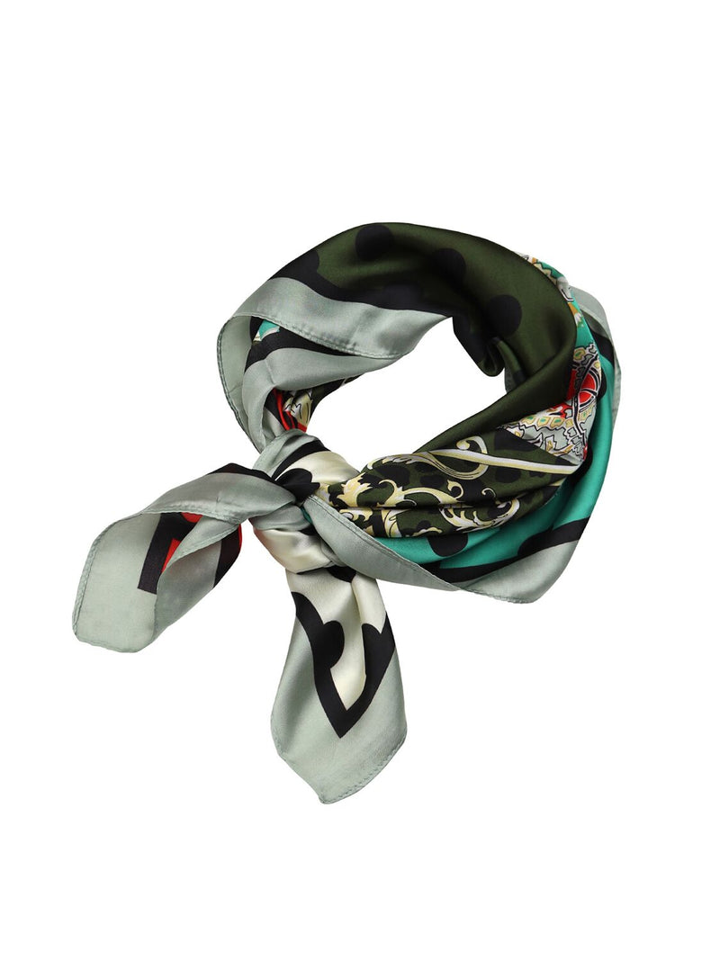Tiger Tree Multicoloured Scarf | Green and Red