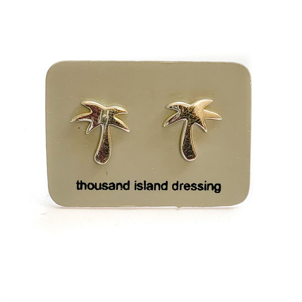 Sterling Silver Palm Tree Studs