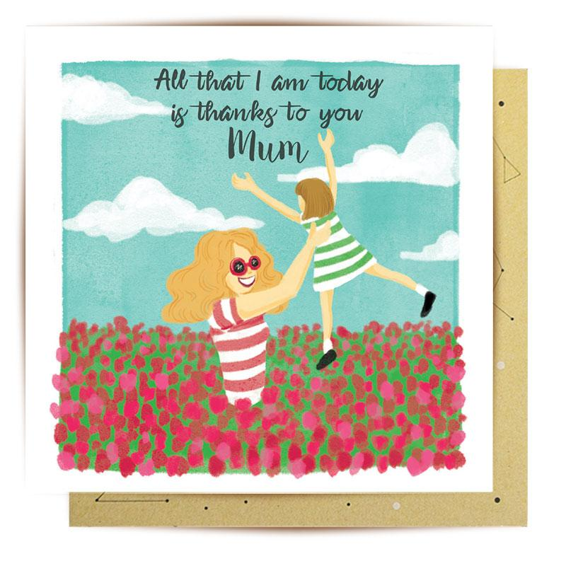 La La Land Greeting Card | Thank you Floral Arrangement