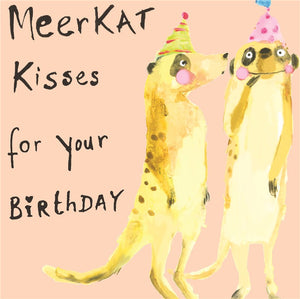 Sooshichacha Greeting Card | Meerkat Kisses