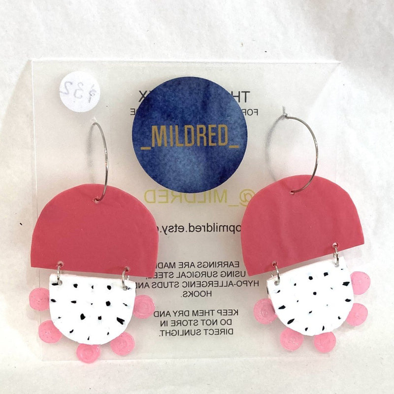 Mildred BREE Dangles | pink