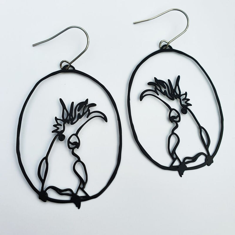 DENZ Cockatoo dangles | Black