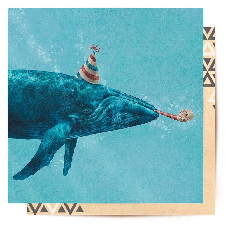 Mini Greeting Card | Party Whale