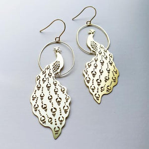 DENZ Peacock Dangles | Gold