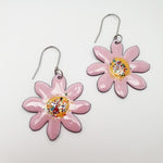 DENZ | Enamel Pink Flower Earrings