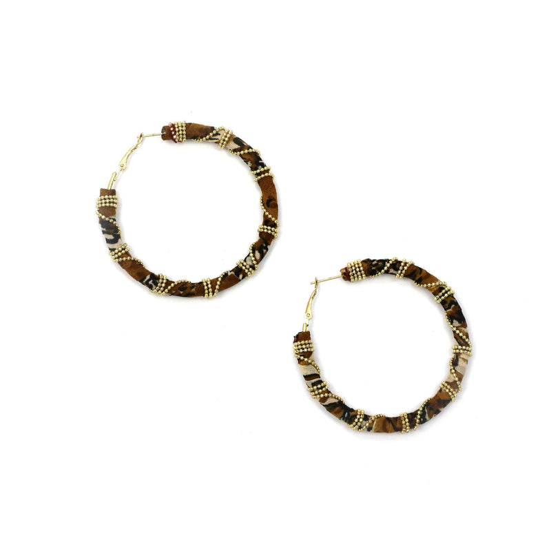 Zoda Hoops | gold & brown
