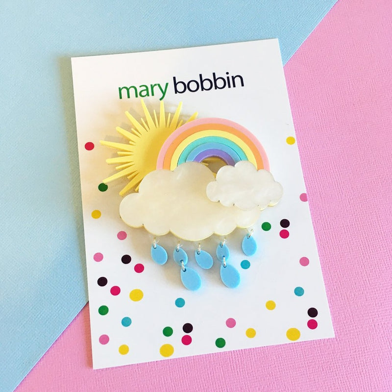 Mary Bobbin Dreamy Rainbow Brooch