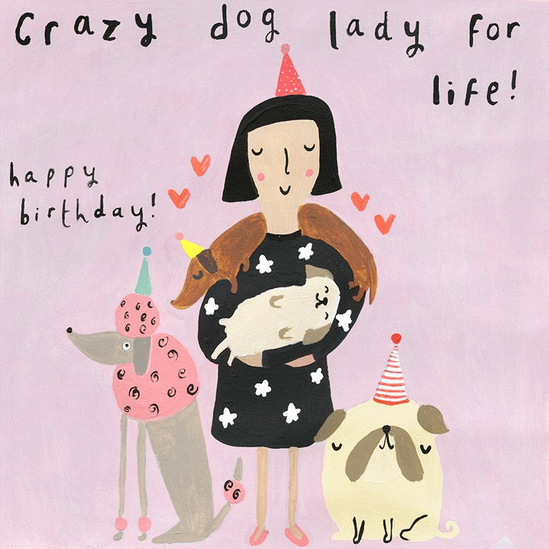Sooshichacha Greeting Card | Crazy Dog Lady