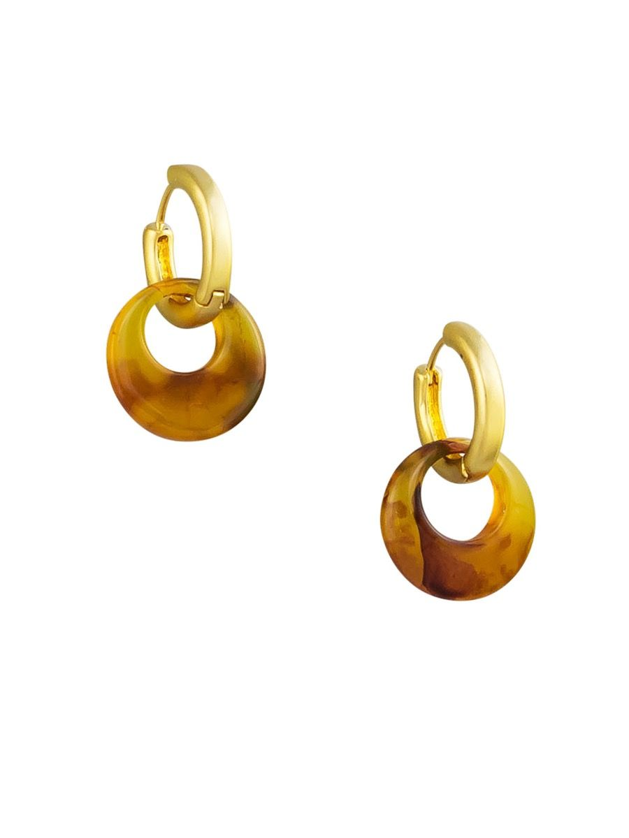 Tiger Tree Two way hoops | Gold