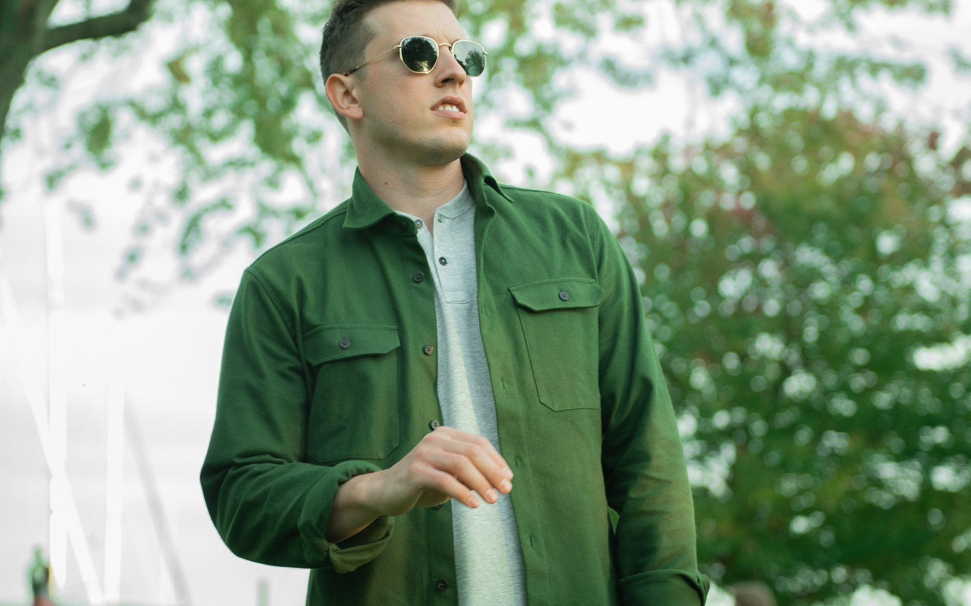 The Olive Flannel Shirt Jacket By MuskOx Apparel