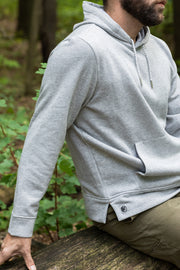 Our thick, soft hoodie is an update on all the features of your classic hoodie, making it the perfect choice for any activity. The good news -- the hoodie is constructed in heavy gauge terry with an ultra soft brushed interior that's well equipped for your everyday adventure. The better news -- it's got a double kangaroo pocket: one with a soft brushed interior to keep your hands warm and a second with double zippers to make sure you leave with what you came with, no matter where you roam.