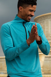 Our Quick Dry Sport Quarter Zip is designed to keep you cool and dry during long active days or as an added layer for summer evenings around the bonfire. Constructed with premium quick absorption and drying fabric, this quarter-zip is breathable and moisture wicking. Designed with a chest pocket and thumbholes.