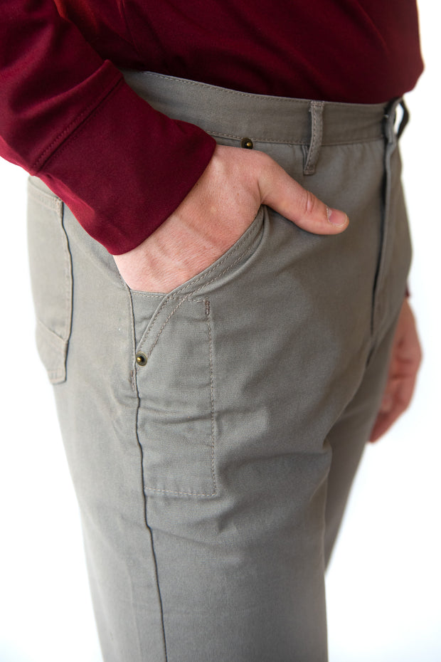 Strength, durability, and comfort, our MuskOx canvas pants deliver on all the qualities you need from clothing that embodies the outdoors. We designed these pants with 100% cotton canvas that allow for mobility, extra flex at the knee, and an inseam gusset for easy movement. Keeping you prepared, our canvas pants are equipped with an interior vertical slide pocket for tools, knife, or whatever else you need for the outdoors.