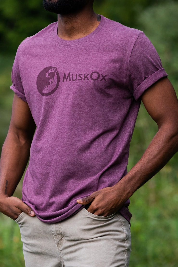 MuskOx-Clothing-Maroon-Tee-Shirt