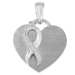 Sterling Silver 1/10 ct TDW Diamond Heart Pendant