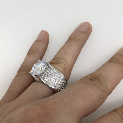Custom .925 Silver 20ct Solitaire Eternity Band
