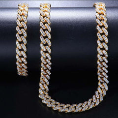 Men's Luxury Round and Baguette CZ Link Chain
