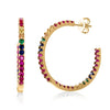 Image of Candy Lover Rainbow Pave Swarovski Hoop Earrings