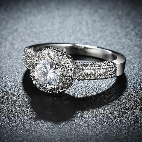 Single Crystal Swarovski Elements Ring