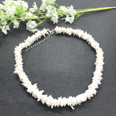 White Puka Natural Shell Necklace