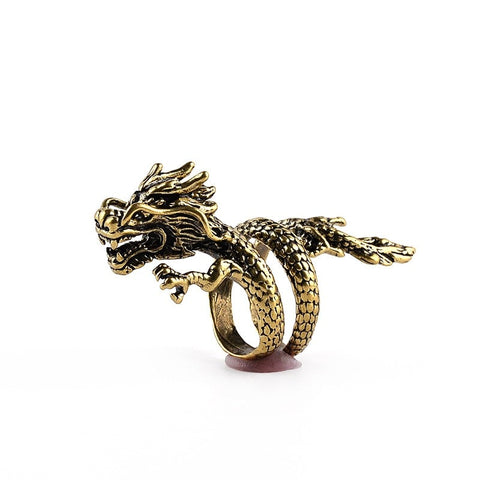 Exaggerated Dragon Ring