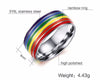 Image of Couples Titanium Rainbow Rings