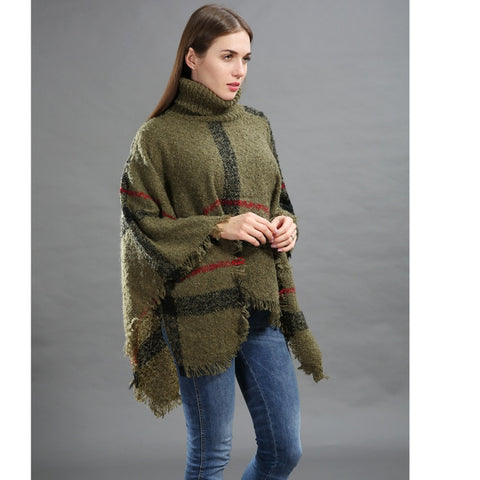 Women's Winter Sweater Knitted Poncho