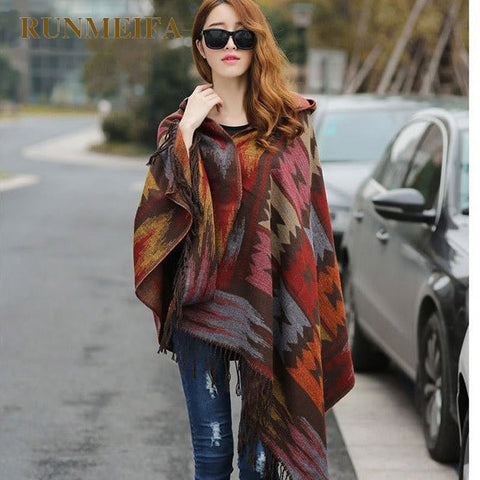 Women's-Winter-Cashmere-Boho-Hooded-Poncho