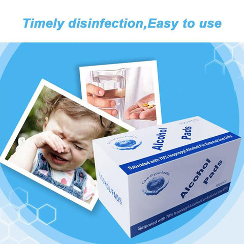 100pcs Disposable Alcohol Swab Wet Wipe
