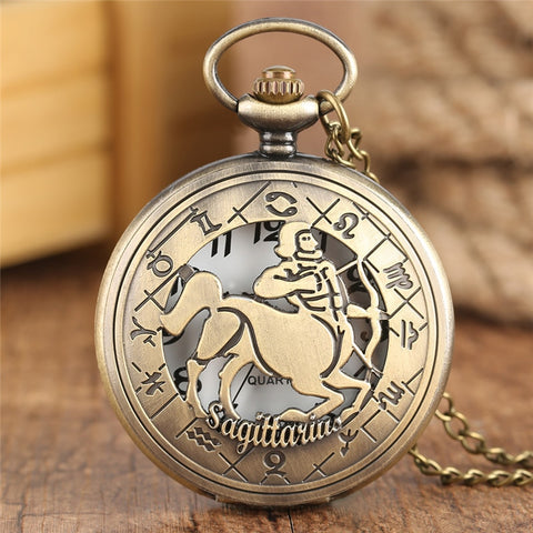 New Retro Astrology Pocket Watch