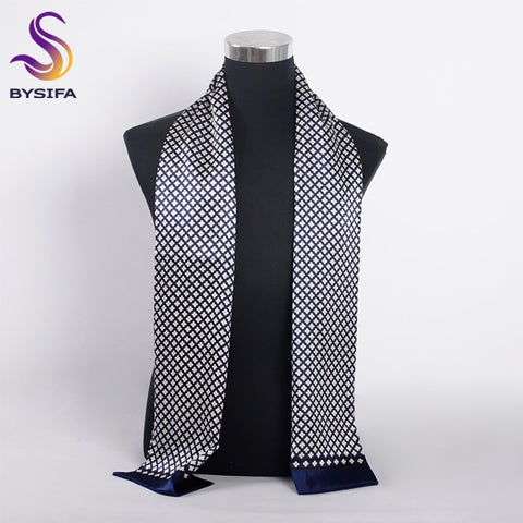 Men's Silk Scarf Muffler 100% Pure Silk