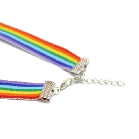 Unisex Gay Pride Rainbow Choker Necklace