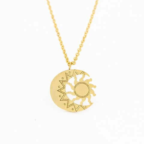 Astrology Charm Sun Necklace