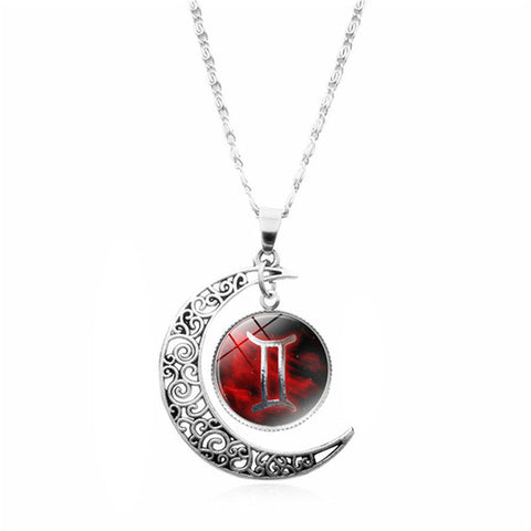 12 Zodiac Sign Astrology Necklace