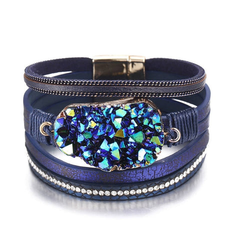 Big Stone Crystal Wrap Bracelets Bangles-Andari Jewelry and Accessories-Andari Jewelry and Accessories