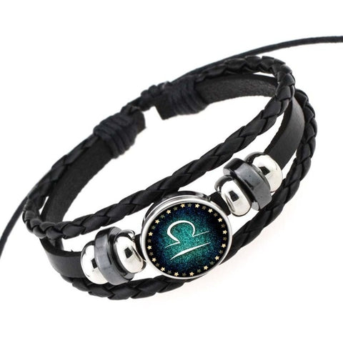 Zodiac Sign Leather punk Bracelets-My Marketing Worx-Andari Jewelry and Accessories