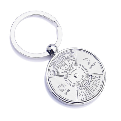 Perpetual Calendar Key Chains Ring