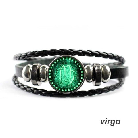 Glowing Zodiac signs Charm Bracelet-My Marketing Worx-Andari Jewelry and Accessories