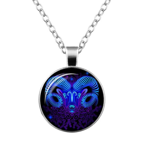 12 Zodiac Sign Galaxy Design Pendant