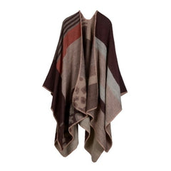 Women's-Winter-Warm-Plaid-Cashmere-Ponchos-And-Capes